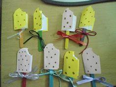 Τα μικιά μου , arts kindergarten: Κάρτες παγωτό ξυλάκι