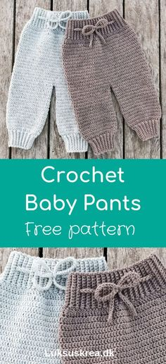 Free crochet pattern in danish, for soft and cozy crochet baby pants, find more free crochet baby patterns on my website www.dk Free crochet pattern in danish, for soft and cozy crochet baby pants, find more free crochet baby patterns Crochet Baby Pants, Crochet Baby Blanket Beginner, Crochet For Boys, Baby Knitting, Crochet Clothes, Crochet Baby Sweaters, Crochet Baby Stuff, Knitted Baby Clothes, Crochet Simple
