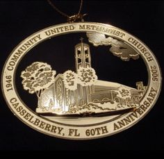 Casselberry FL United Methodist Church 2006 60th Anniversary Commemorative Medal
