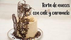 TORTA DE NUECES CON CAFÉ Y CARAMELO - YouTube Just Cakes, Cakes And More, Drip Cakes, Fondant, Cake Recipes, Birthday Cake, Baking, Formulas, Desserts