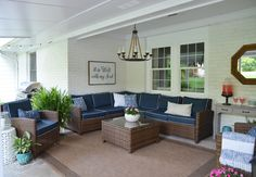 Check out this back patio makeover reveal! You won't believe the before!