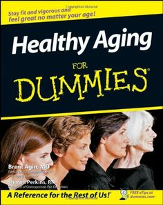 Healthy Aging For Dummies explains how people can embark on a healthy lifestyle that will enable them to feel young, both mentally and physically, even as they're getting older. It covers tips and advice on choosing the ideal physician; starting an exercise program; learning to meditate; taking the right vitamins and herbs; dealing with or preventing heart disease, cancer, and dementia; replacing negative thinking with positive thinking; and building memory and learning skills.