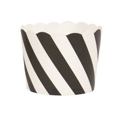Black Stripe Cupcake / Sweet Cup by My Little Day at www.theoriginalpartybagcompany.co.uk
