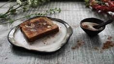 A cinnamon sugar toast kind of morning. Funny story about this toast--it was something my Mama would make for us kids as a treat on special occasions--We weren't ever really given sugar so it was pretty special. One year for Mother's Day my brother and I wanted to make her  breakfast in bed. We got up early toasted the bread coated it in butter and put so much cinnamon on the poor thing that it was practically just a mound of powder--tasted like hell. My Mama ate that toast like a champ…