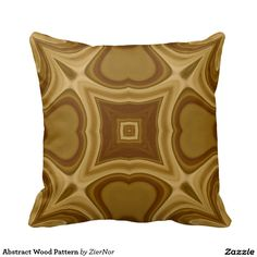 Abstract Wood Pattern Throw Pillow