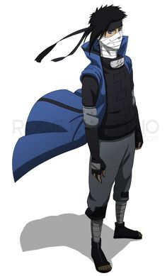 This is my Naruto OC his name is Kuramore he is from the Mist Village Drawn by he was colored by both artists did a great job