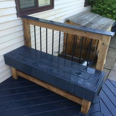 Make Benches From Scrap Composite Decking Outside Ideas