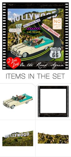 """""""Vintage T.V. ~ All Things Lucy... On the Road Again"""" by marvy1 ❤ liked on Polyvore featuring art and vintage"""