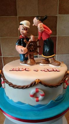 Popeye and Olive cake  - Cake by Kyoko
