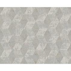 Tapete 1005 cm x 53 cm Elbert Metro Lane Farbe: Grau / Metallic
