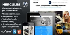 Hercules is a clean, minimalistic and responsive WordPress theme for your portfolio or business.