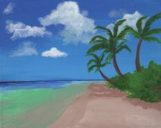 Palm Tree Coast - Free Arts Academy- Art From Our Channel Art Paintings For Sale, Acrylic Paintings, Art For Sale, Sky Painting, Art Academy, Pet Portraits, Palm Trees, Flower Art, Abstract Art