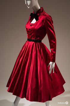 Jacques Fath for Joseph Halpert cocktail dress | Silk satin, 1952