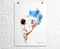 Ballerina Dancer Art Print  Watercolor by WatercolorPrint on Etsy, $30.00