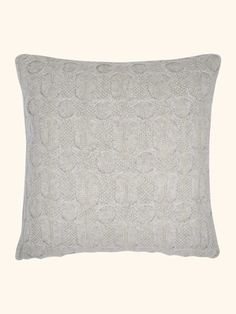Bubble Knit Cashmere Cushion in Fumo Grey - N.PEAL Luxury Cashmere
