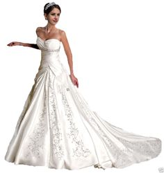 Sweetheart White Ivory Wedding Dress Bridal Gown Stock Size 6 8 10 12 14 16