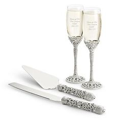 Personalized Madison Avenue Wedding Set , Add Your Message
