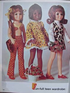 """Sewing for Crissy (17.5 and 15.5 inches). free pfd vintage patterns. With some resizing, they might fit the 14"""" H4H dolls, and 18"""" KnC."""