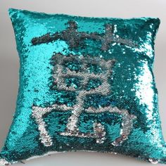 DIY Glitter Sequins Decorative Pillow Case