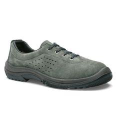 Chaussures de sécurité S.24 Ligne Treck Modèle Girondin S1P Réf. : 6002 • Tige cuir croûte velours perforé gris • Embout acier • Semelle anti-perforation inox • Semelle extérieure BPU • Semelle intérieure CONFORT+