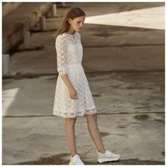 Konfirmationskjole - White And More – White and Confirmation Dresses White, White Dresses For Women, Cloud Dancer, Boys Wear, Prom Dresses, Wedding Dresses, Party Looks, Marie, Celebrities