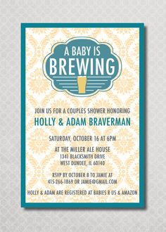 Superior Couples Baby Shower Invitation Baby Is Brewing By PinchOfSpice, $15.00