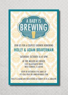 Couples Baby Shower invitation BBQ Modern by southernbellavita