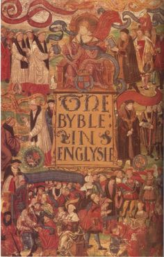 The Great Bible of 1539 was the first authorized English Bible. King Henry VIII commanded that a Bible be put in every parish in the kingdom.