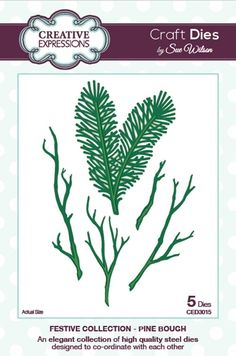 Creative Expressions PINE BOUGH  Sue Wilson Festive Collection Die Set CED3015 zoom image