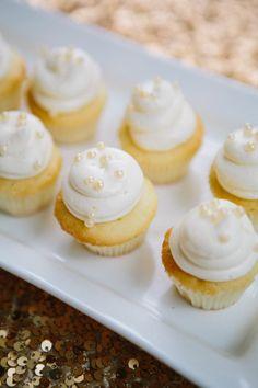 Gold and White Wedding. Wedding Reception Dessert Buffet. Wedding Dessert Table Ideas | photography by http://www.ariellephoto.com/