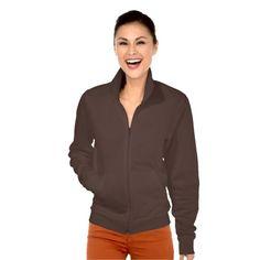 Women's American Apparel California Fleece Jogger Printed Jacket in brown.