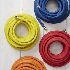 colorful garden hoses