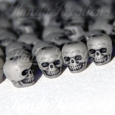 100+Glow+In+The+Dark+Skull+Pony+Beads+with+black+tint+by+KandyLand,+$9.99