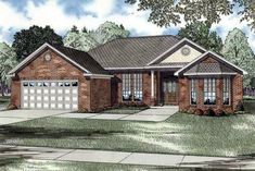 House Plan 82035 | European Plan with 1758 Sq. Ft., 3 Bedrooms, 2 Bathrooms, 2 Car Garage