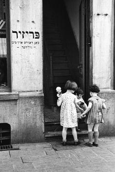 Dollies and Best Friends ~ Jewish Quarter, Antwerp, 1937, by Fred Stein