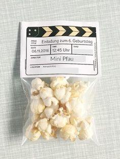 DIY Einladungen Zum Kindergeburtstag, Einladungskarten Basteln,  Kinoeinladungen, Kinogeburtstag, Creadienstag, Einladungen Mit Popcorn Fürs  Kino, ...