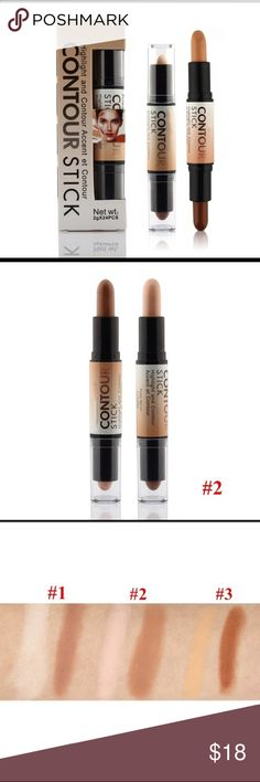 Double-ended 2 in1 Contour Stick Medium-Tan 100% Brand and high quality!!! The best contouring makeup for a natural look. Offers comfortable wear. Waterproof Long lasting effect. Double-ended 2 in 1 Highlight and contour accent et Contour Stick has a creamy finish that conceals,highlights and contours with ease. Amplify your look with our all-purpose Double-ended 2 in 1 Contour Stick that has a creamy finish that conceals, highlights and contours with ease. Sugar Queen Makeup Concealer