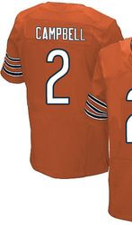 """$78.00--Jason Campbell Orange Elite Jersey - Nike Stitched Chicago Bears #2 Jersey,Free Shipping! Buy it now:click on the picture, than click on """"visit aliexpress.com"""" In the new page."""