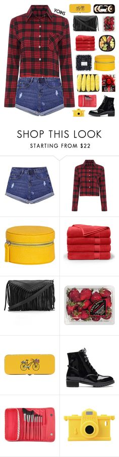 """""""I Am A Jeans And Plaid Shirt Kinda Girl - Yoins 9"""" by paradiselemonade ❤ liked on Polyvore featuring Brooks Brothers, FRUIT, Danica Studio, Sephora Collection, Moschino, simple, organize, yoins, yoinscollection and loveyoins"""