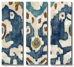 Ocean Ikat II by Chariklia Zarris. Canvas Art Set from Art.com, $309.99