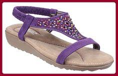 Divaz , Damen Sandalen violett violett, violett - violett - Größe: 40 - Sandalen für frauen (*Partner-Link)