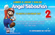 Invitaciones de cumpleaños de Super Mario Bros 3 Gratis, están listas para descargar y luego imprimir la cantidad que tu desees.