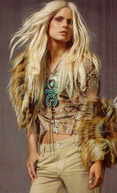 turquoise jewelry + fur
