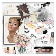 """Wedding Day Beauty"" by rosie305 ❤ liked on Polyvore featuring beauty, Bobbi Brown Cosmetics, Clarins, Chloé, By Terry, Betsey Johnson, Cartier, Philippa Craddock, Conair and Lancôme"
