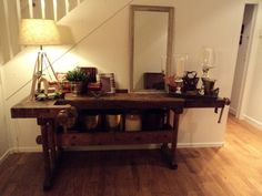 carpenter's bench console table