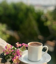 Beautiful Nature Scenes, Turkish Coffee, Cottage Living, Photography Editing, Morning Images, Tea Time, Tea Cups, Home And Garden, Tableware