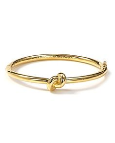 kate spade new york Sailor's Knot Hinge Bangle | Bloomingdale's| Cute bridal party gift. Also comes in silver.