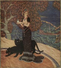 Circe Tapestry designed by Edmund Dulac.