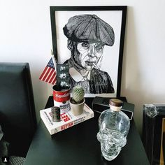 Framed Thomas Shelby Print - Original artwork by Luke Dixon Brown Wood, Black Wood, How To Make Brown, 10 Frame, Peaky Blinders, A3, Original Artwork, Landscape