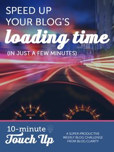 I'll be the first to admit that I'm not technical enough to fix some of the things slowing down my site, but one thing I CAN fix is getting rid of unnecessary plugins that are slowing down my blog. Generally you want your blog to load in three seconds or less. The10-Minute Touch Upis a …